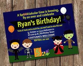 Halloween Birthday or Kids Halloween Party Invitation