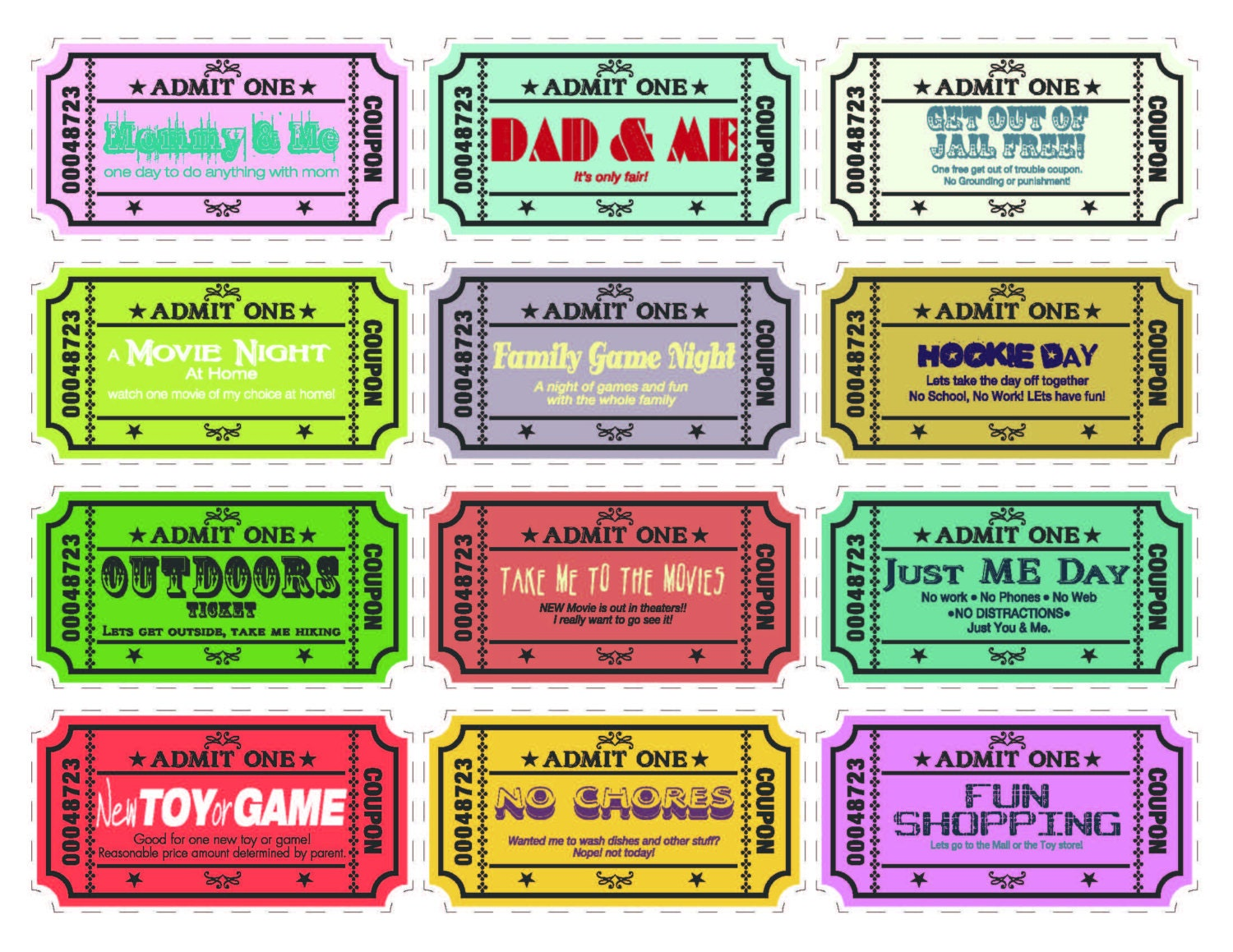 printable coupons printable kids coupons extra blank coupons 24 pre designed coupons and 12 blanks