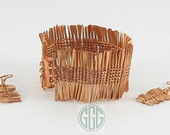 Bracelet & Earring Set - Copper Sticks (S011)