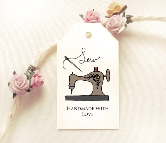 Sewing Tag Template Handmade With Love Hand By Instaprintables