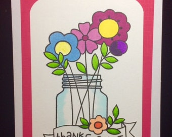 Thanks A Lot Flower Greeting Card