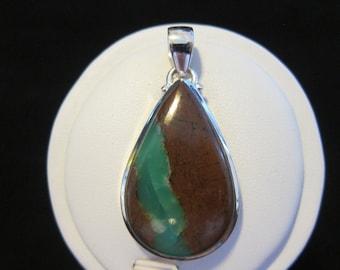 Boulder Chrysoprase Sterling Silver Pendant (47)