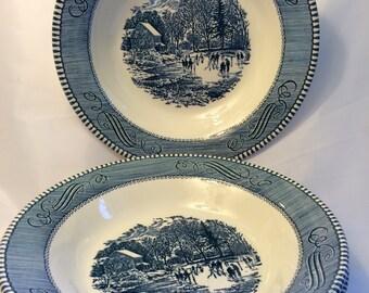 Currier  & Ives soup bowls