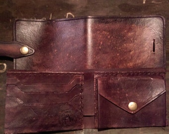 Mens Bifold Wallet Custom, handmade, Men's tooled leather Wallets