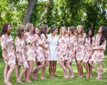 bridesmaid robes cheap unique bridesmaid gifts cotton kimono bridal shower gift Bridal Party Robes Not set of 11 IN001