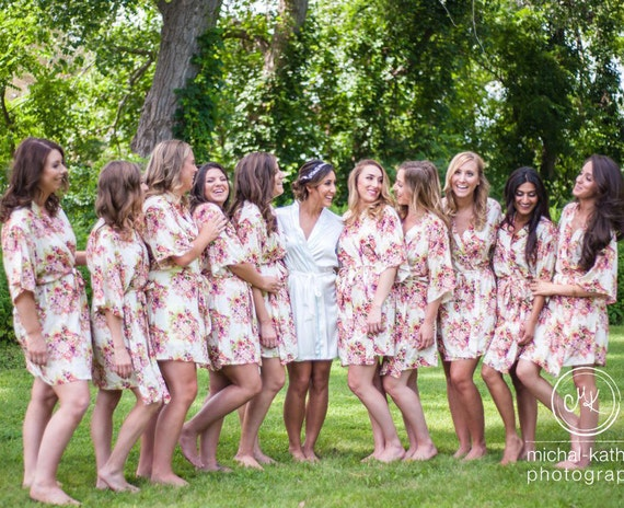Wedding Party Gifts For Bridesmaids: Bridesmaid Gift For Bridesmaid Robes Bridal Shower Gift Bridal