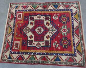 Caucasian Kazak rug,48''x52''-121x133 cm n.:46