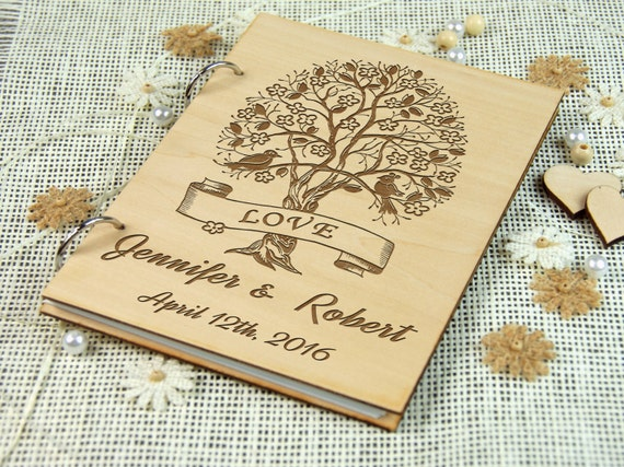 Personalized Bridal Shower-Wedding-Anniversary- Birthday-Retirement Guest Book, Custom gift, Gift for couple, Signature Book, Memory album