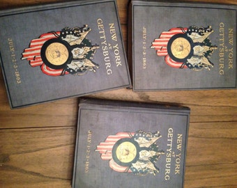 3 vol New York Final Report the Battlefields of Gettysburg 1900 Maps Civil War