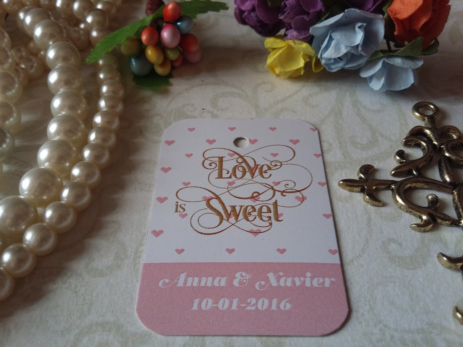 Love is sweet gift tags wedding favors bridal shower for Dulce coffee studio