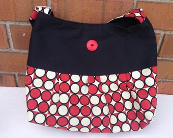 Black With Red and White Circles Purse (325)