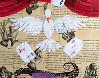 Magic Dove Metallic Photographic Print