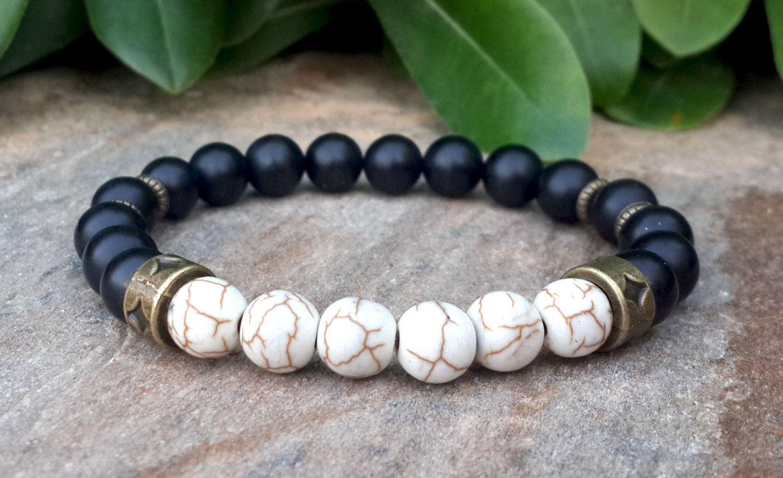 mens mala bracelet mens jewelry bracelet black onyx