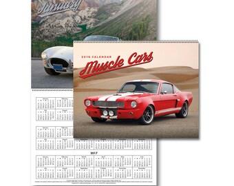 2016 Spiral Bound Muscle Car Calendar