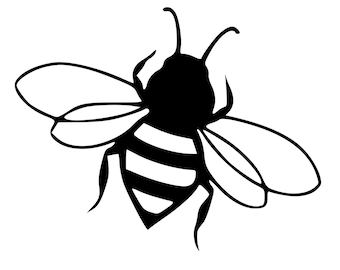 Bumble Bee Die-Cut Decal Car Window Wall Bumper Phone Laptop