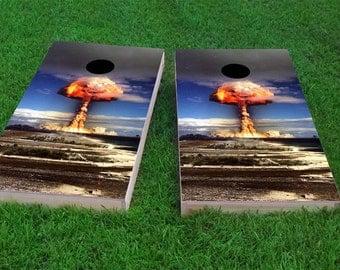 Explosion Light Weight (1x4) Regulation Size Custom Cornhole Board Game Set - Corn Hole - Bag Toss