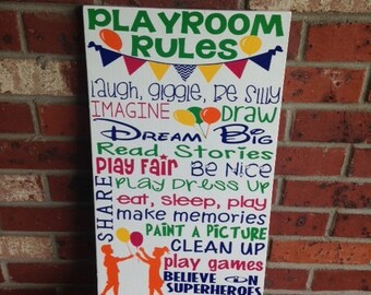 """Personalized Wooden Kids Playroom Decor 12x20"""""""