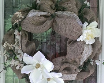 Burlap and Magnolias