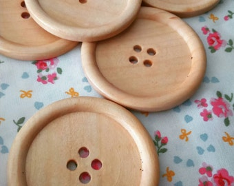 Large wooden buttons 4 hole 5cm