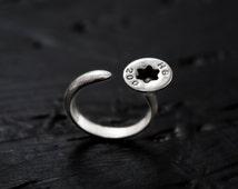 Silver Ring | Screw Ring | One of a kind | Design Jewelry | Tandu Jewelry