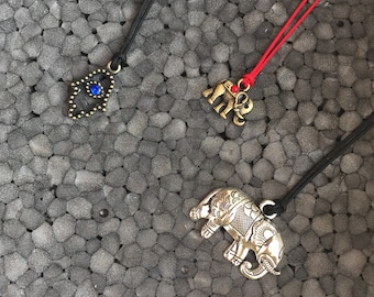 Made to Order Charm necklace Elephant or Hamsa
