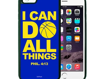 I Can Do All Things Basketball iPhone Case, Bible Verse Scripture iPhone case 4/4s 5/5s 5c 6 & Samsung Galaxy case s3 s4 s5 iPhone Cover