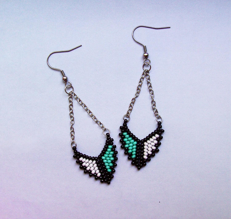 jewelry earrings seed bead earrings rainbow colors dangle