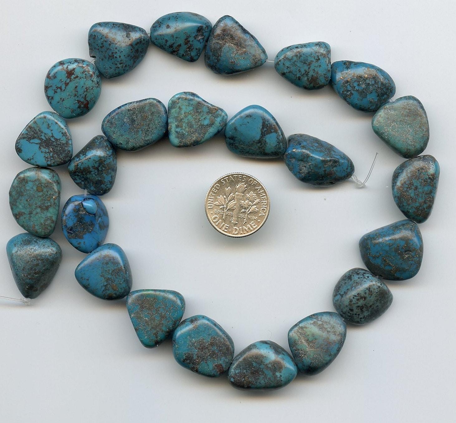 turquoise nugget gemstone 16 strand destash