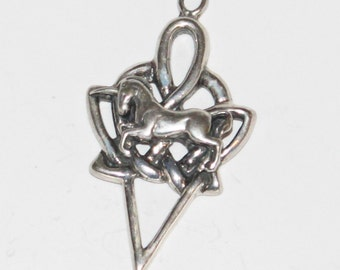Celtic Tribal Unicorn Pendant Sterling Silver Jewelry   Celt137