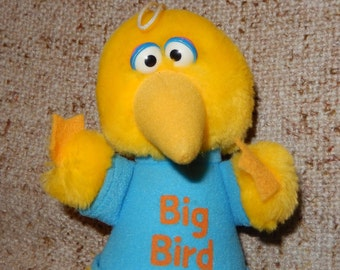 Vintage Big Bird Sesame Street Plush Toy from the 1983