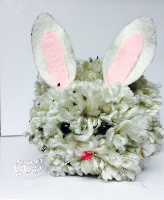 home deco rabbit deco large handmade pom pom bunnies. Black Bedroom Furniture Sets. Home Design Ideas