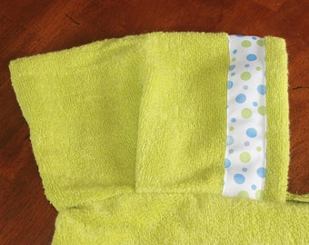 Polka Dot Hooded Towel, Green - For babies, toddlers, preschoolers and beyond!