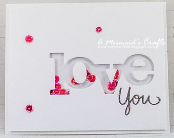 Clean and Simple Love Shaker Card