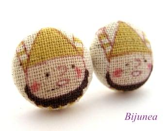 Dwarf earrings - Dwarf Snow White stud earrings - Bear studs - Dwarf posts - Dwarf post earrings sf941