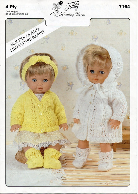 baby dolls clothes knitting pattern baby dolls matinee set