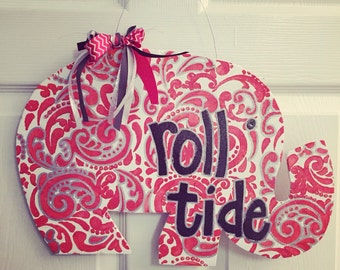 Roll Tide Elephant Door Hanger