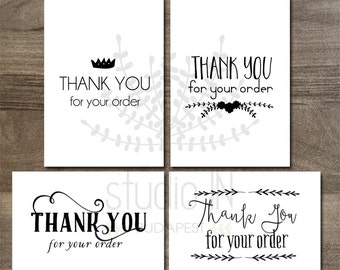 Printable thank you tags, customer gift tags, printable tags, Etsy seller thank you tag