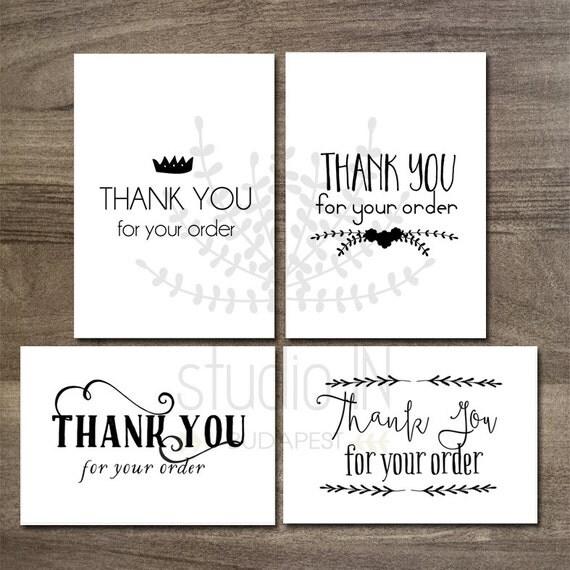 Printable thank you tags customer gift tags printable tags