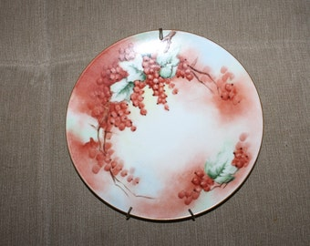 SALE: Antique Limoges (Which Means Fine Bone China) Made in France, Decorative Plate w Hanging Materials on it, Signed by Artist in 1915