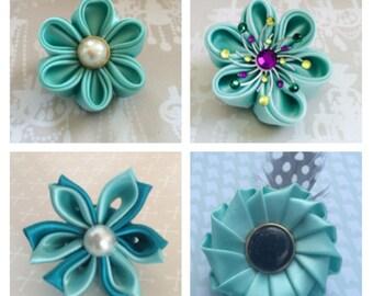 Mint lapel pin flowers