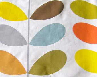 Orla Kiely 100% Cotton Fabric - Multi Stem - Curtain Fabric Quilting fabric Fabric  Remnants or meters