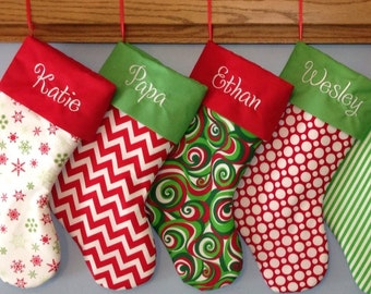 Private listing for kristenhatten  for 4   Personalized Christmas Stockings
