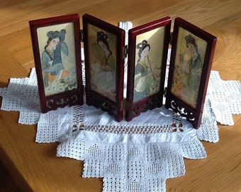 Miniature Japanese folding Screen