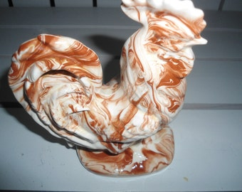 Vintage Ozark Clay Rooster Figurine