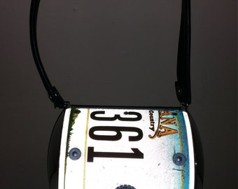 Little Earth Montana The Big Sky Country License Plate Purse