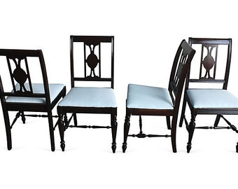 Regency-Style Dining Chairs, S/4