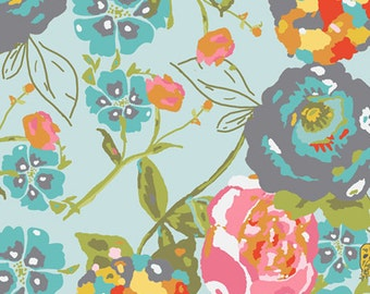 Art Gallery Fabric LillyBelle Garden Rocket in Turquoise Bari J By the 1 Yard
