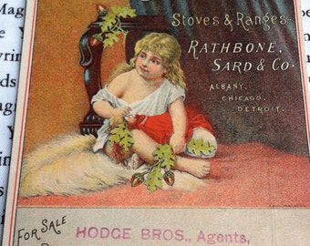 Antique Trade Card, Acorn Stoves and Ranges