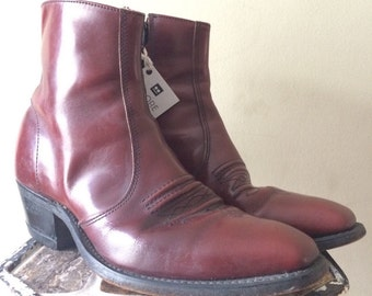Vintage American Made Rockabilly Ankle Boots w/ Cuban Heel