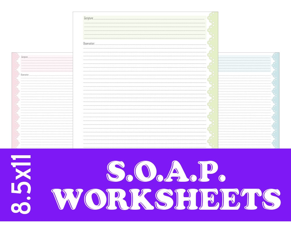 s o a p bible study worksheets vintage pastels by allaboutfaith. Black Bedroom Furniture Sets. Home Design Ideas